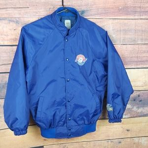Vintage Montreal Expo bomber track jacket